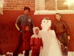 My dad, aunt, brother and me in N.Y.
